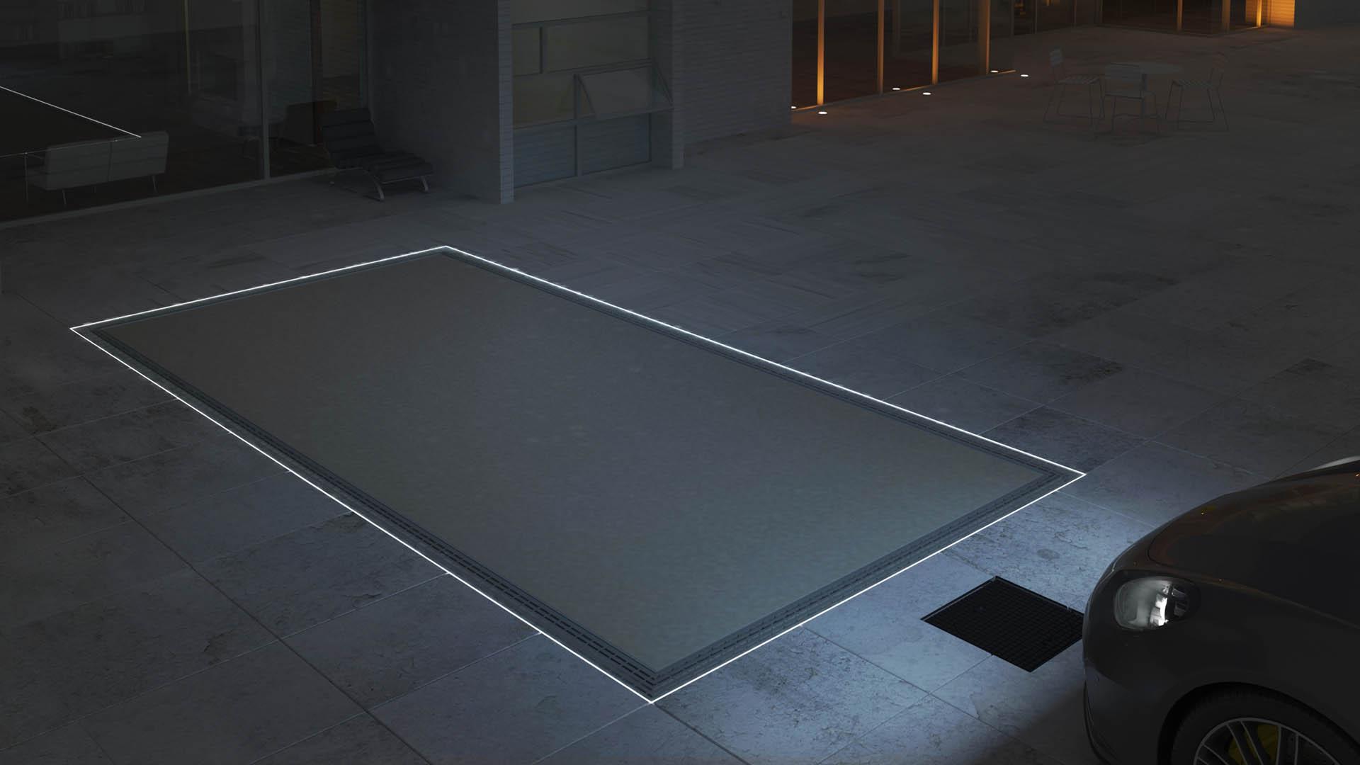 CLT Holland - Down Parker - Autoliften zijn voorzien van LED verlichting