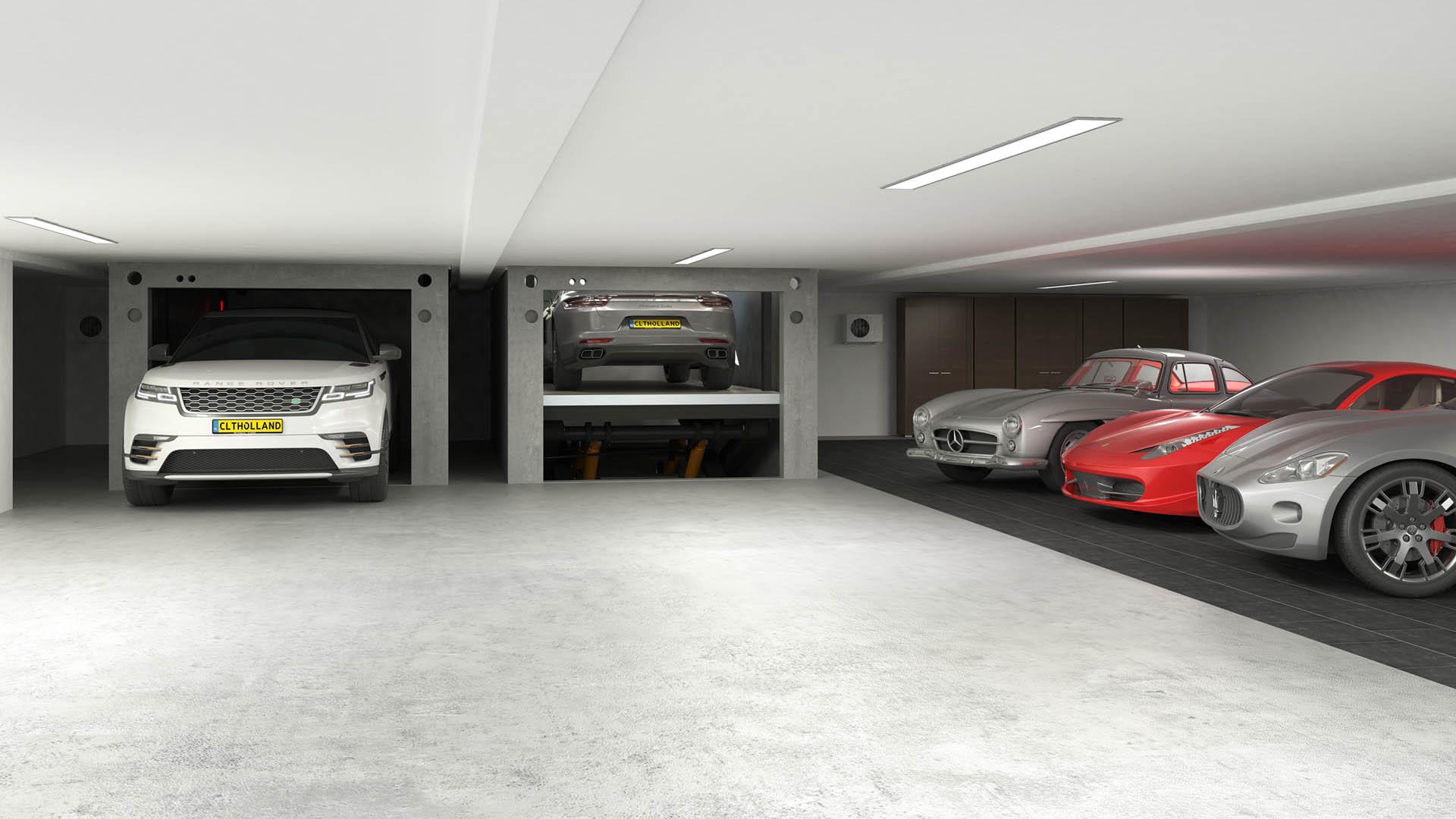 CLT Holland - Down Parker - Situatie inbouw in parkeerkelder