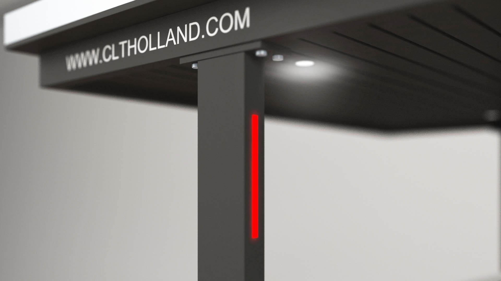 CLT Holland autoliften zijn tot in detail afgewerkt. Dit voorbeeld geeft het stoplicht weer voor de juiste positionering van uw wagen.