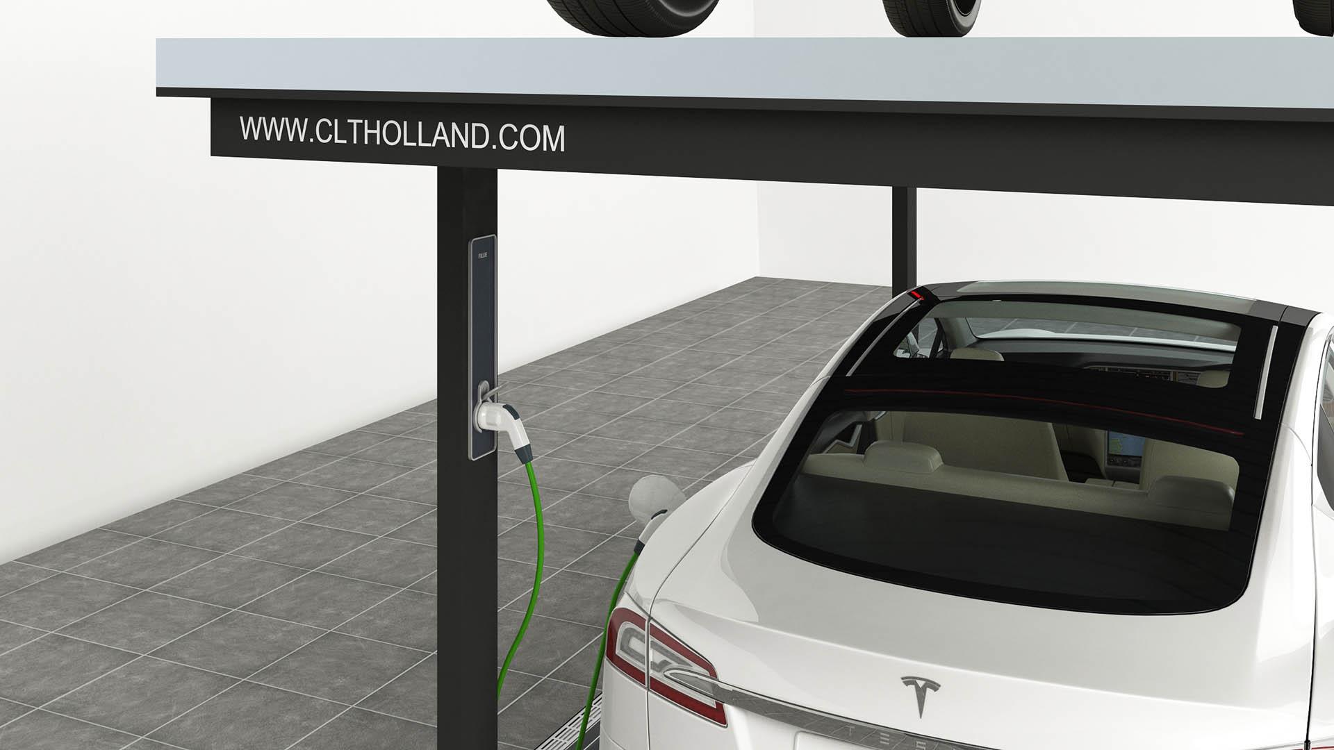 CLT Holland autoliften zijn ook uitermate geschikt voor de elektrische rijder. Zo leveren wij ook laadsystemen, uiteraard volledig ingebouwd in onze lift.