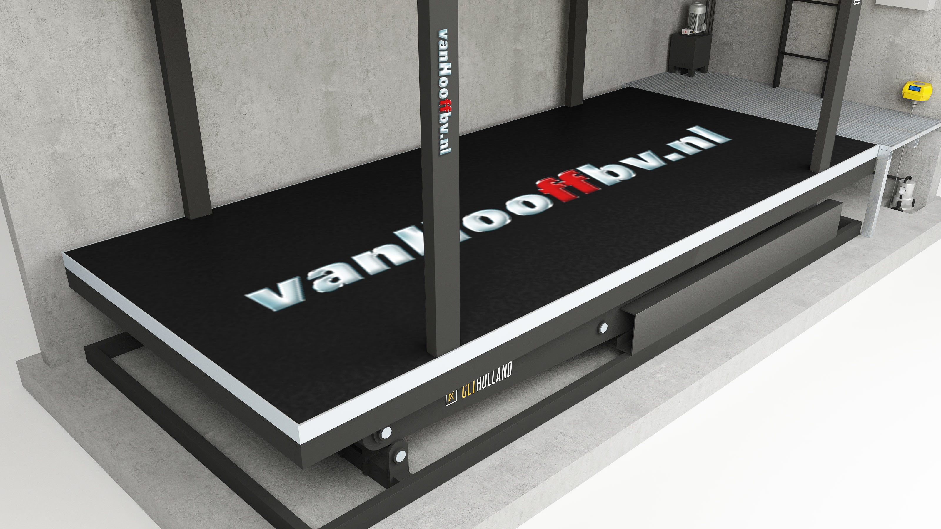CLT Holland - Down Parker - Vloer geprint met logo Van Hooff BV