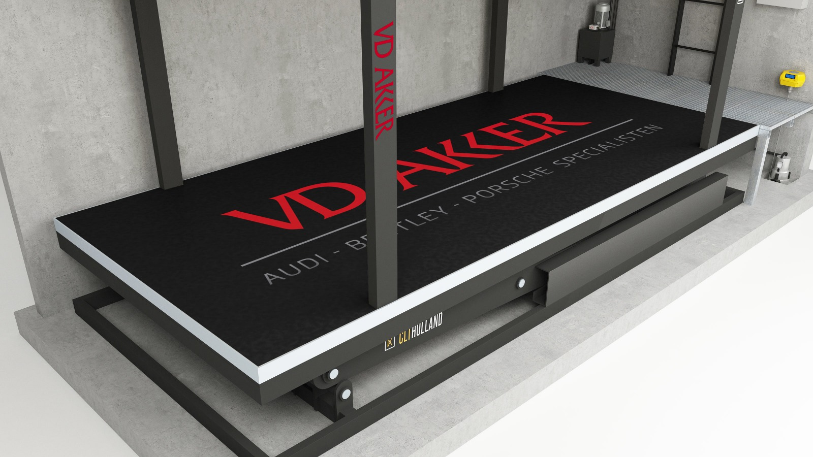 CLT Holland - Down Parker - Vloer geprint met logo VD Akker