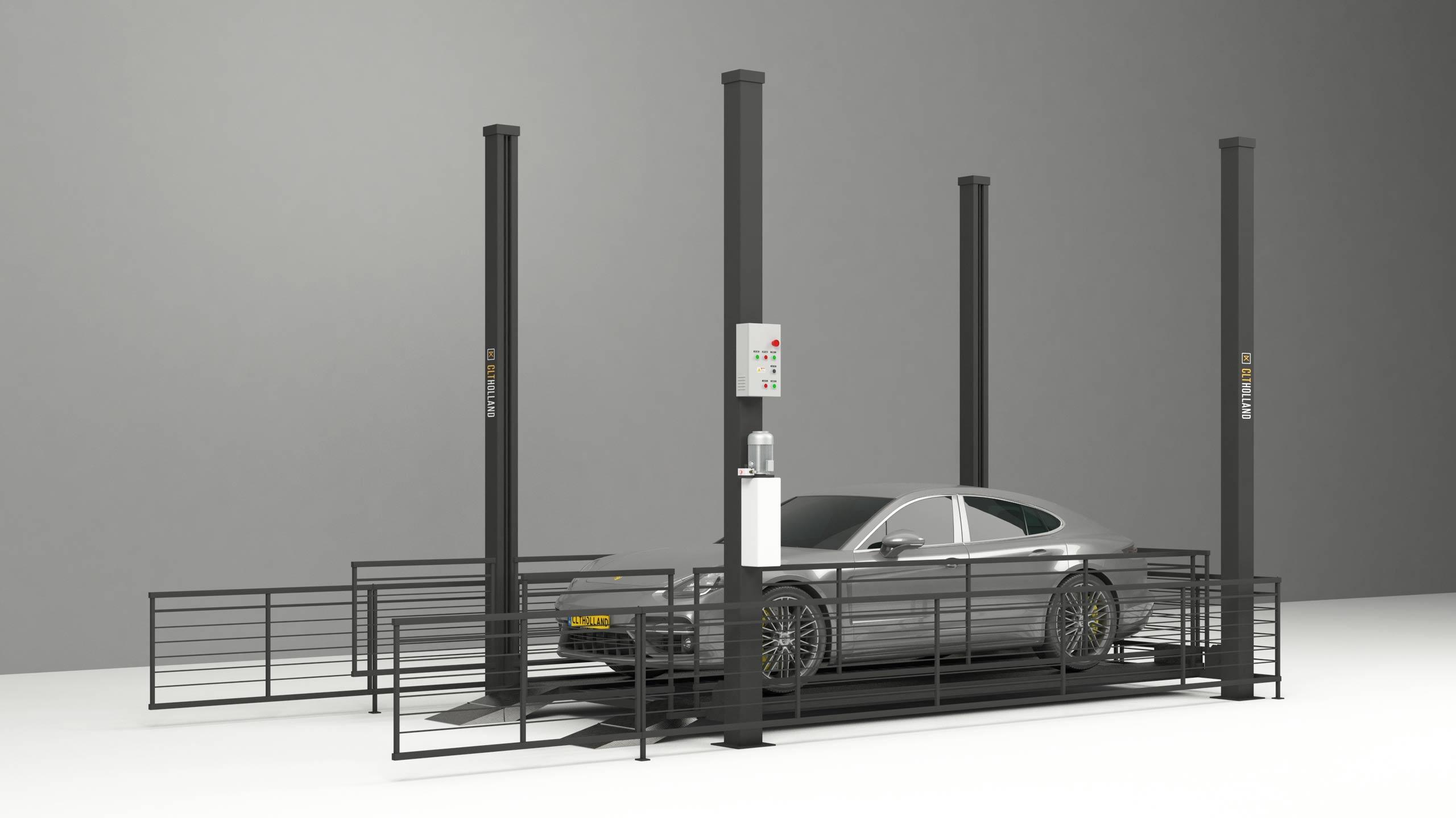 Carlift autolift voor transport naar etage of verdieping